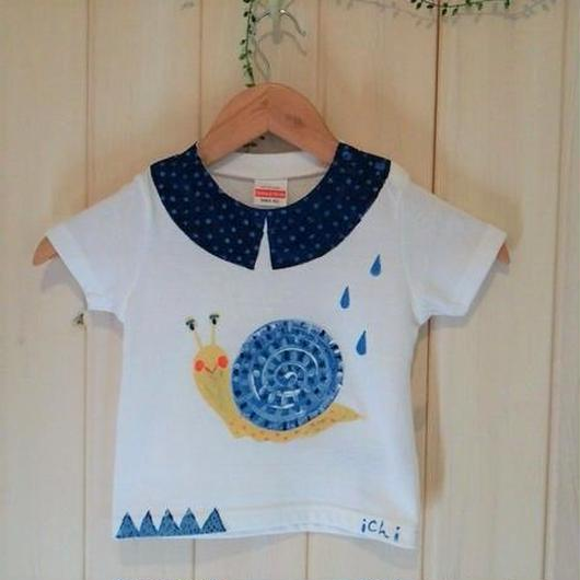 90㎝サイズ カタツムリさんの手描きTシャツ