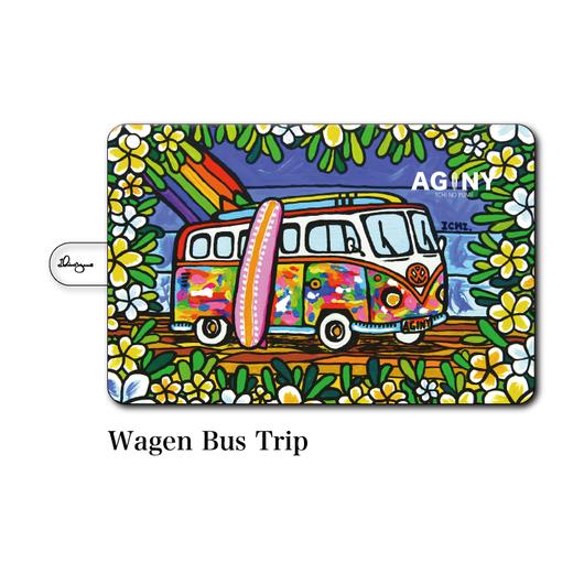 """iPad mini~4/Air1.2対応 手帳型カバー """"Wagen Bus Trip"""""""