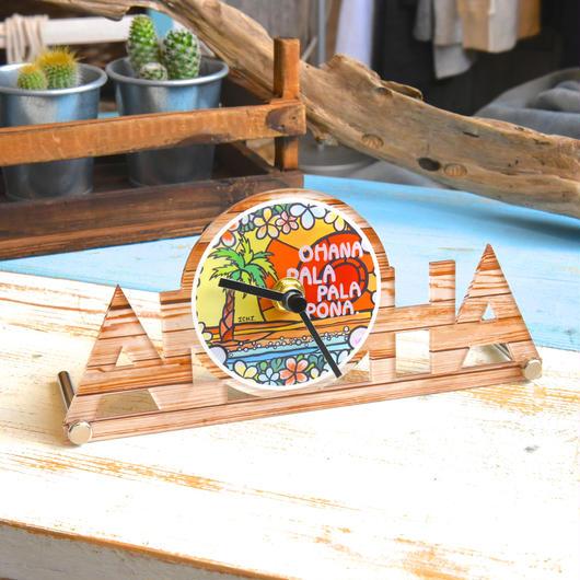 """【数量限定】ALOHA オリジナル置き時計 """"Pala Pala Pona"""""""