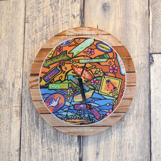 """【数量限定】オリジナルかけ時計 """"Aloha State Paradise"""""""
