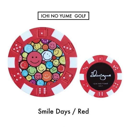 Ichinoyume GOLF カジノマーカー/ゴルフマーカー〝Smile〟