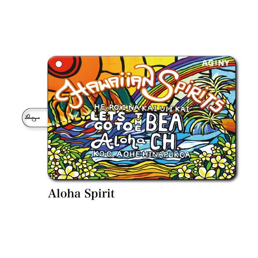 "iPad mini~4/Air1.2対応 手帳型カバー ""Aloha Spirit"""