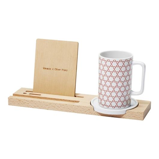 kagome mug tray / red
