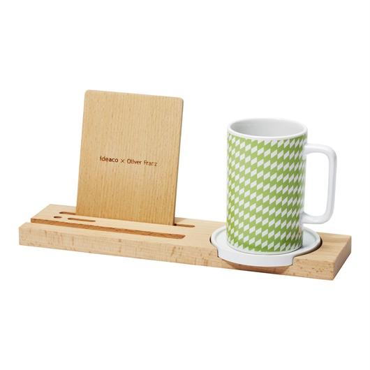 kagome mug tray / green