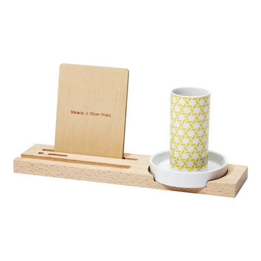 kagome penholder tray / yellow
