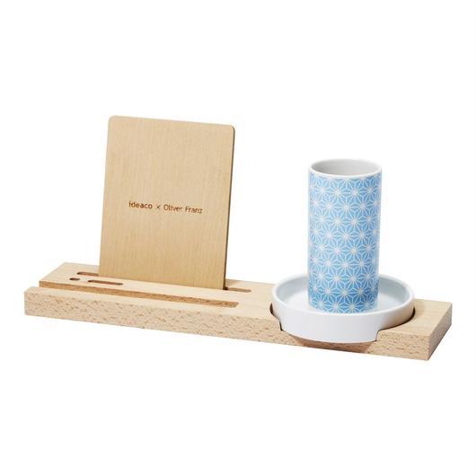 kagome penholder tray / blue