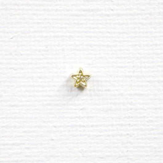 星ビーズ(FJ1034 ゴールド) 【5個セット】
