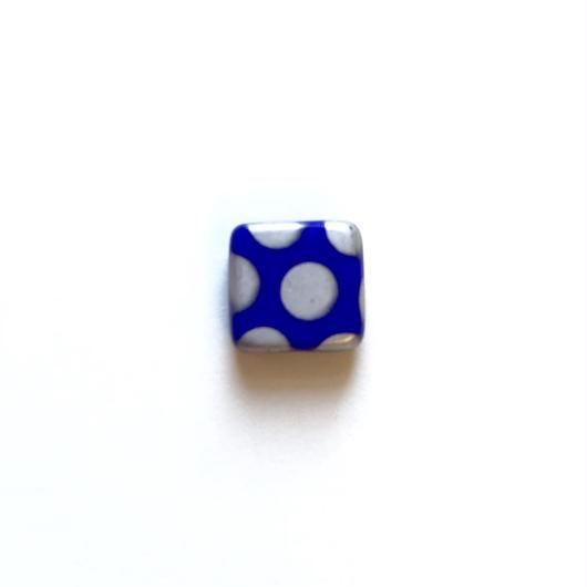 スクエアドットビーズ(FJ323 ブルー) 【2個セット】
