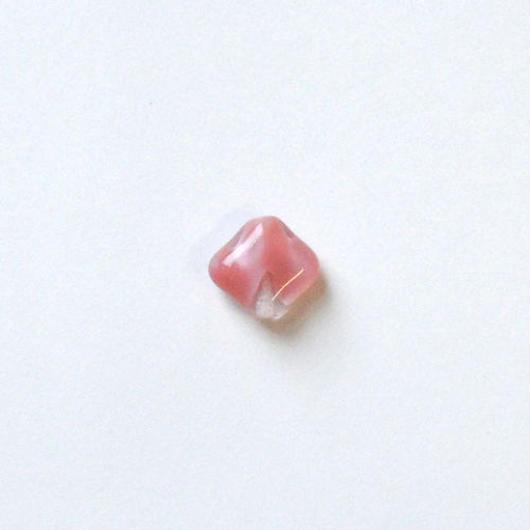 スクエアマーブルビーズ (FJ268 ピンク) 【2個セット】