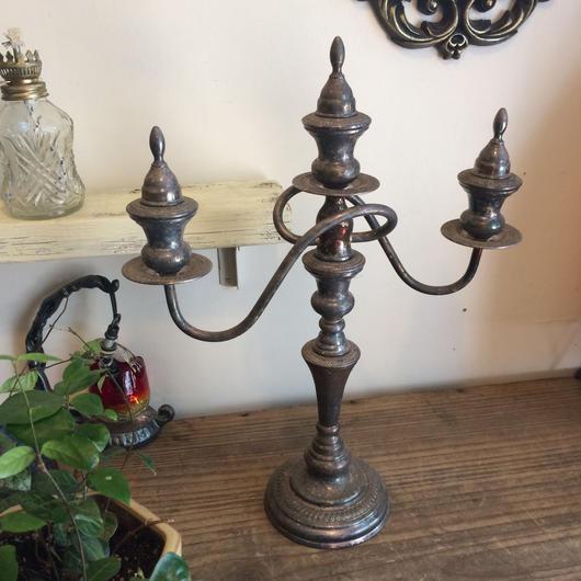 【古道具15】アンティーク燭台 銀製品 シルバー 蝋燭立て