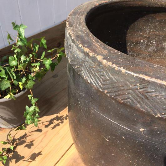 【古道具59 】大きな陶器の鉢