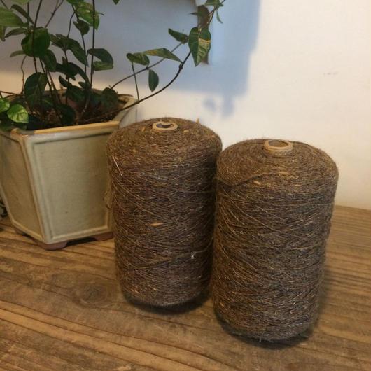 【クラフト005】機織り糸・手編み糸  同色2個セット 薄茶