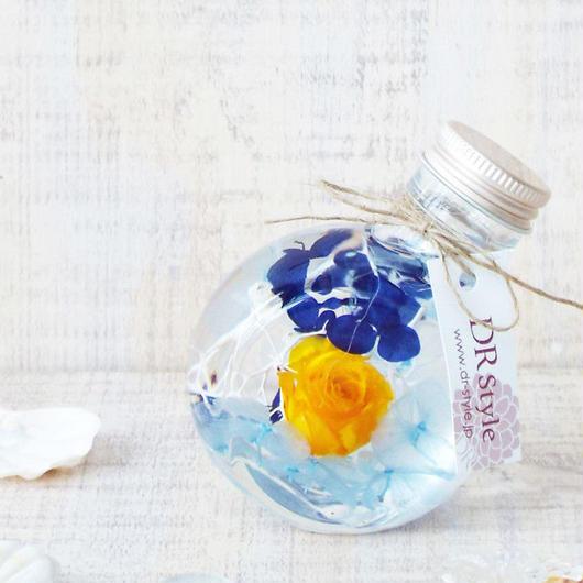 ハーバリウムミニボトル 【orange&blue】