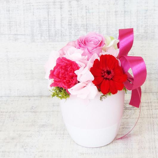 Mother'sDayアレンジメント【プリザーブドフラワー】/pink