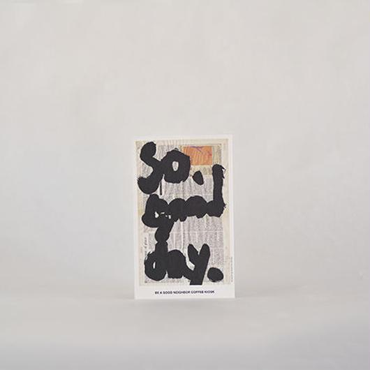 BE A GOOD NEIGHBOR COFFEE KIOSK|オリジナル切手つきポストカード