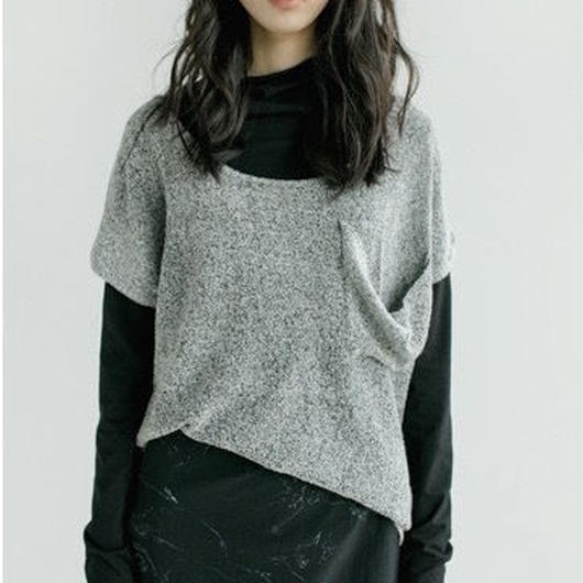 monotone loose knit sweater