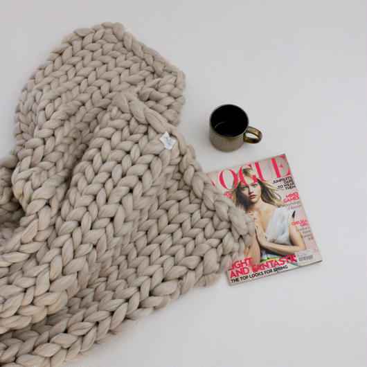 chunky knit hot blanket