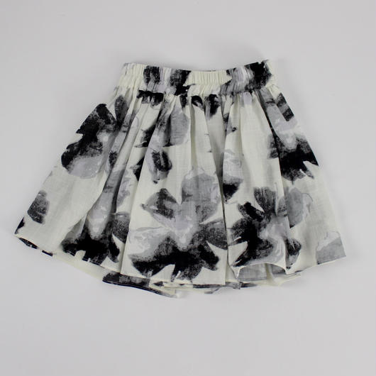 ink printing cotton wide pants