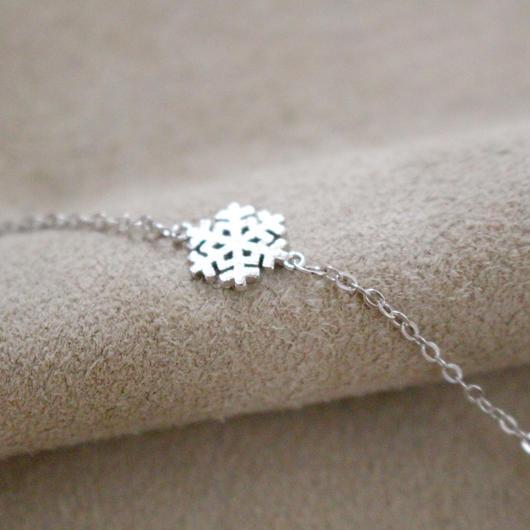 snow snowflake bracelets