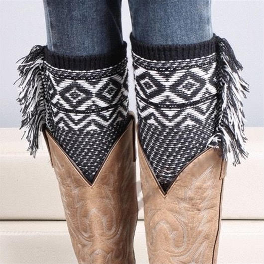 5color-bohemian knit leg warmers