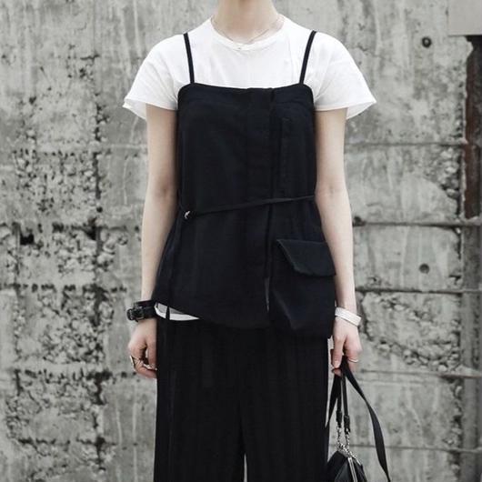 A pocket overlap vest