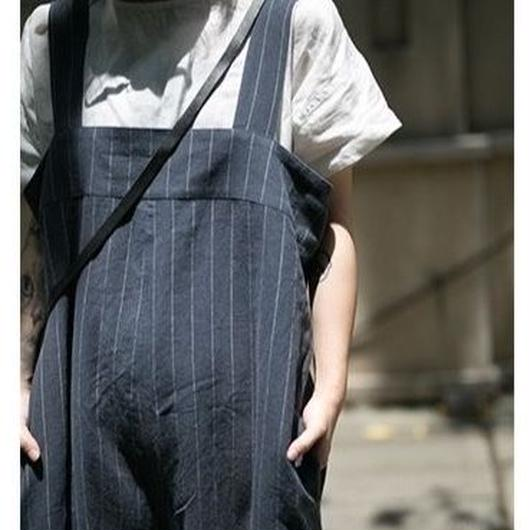 linen overalls loose pants