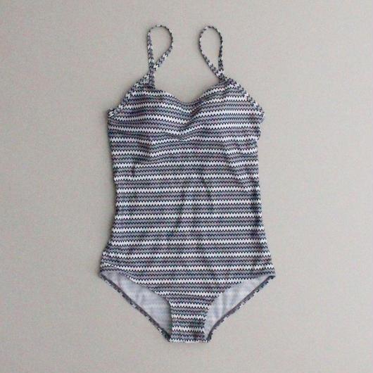 2color-calm wave swimsuit