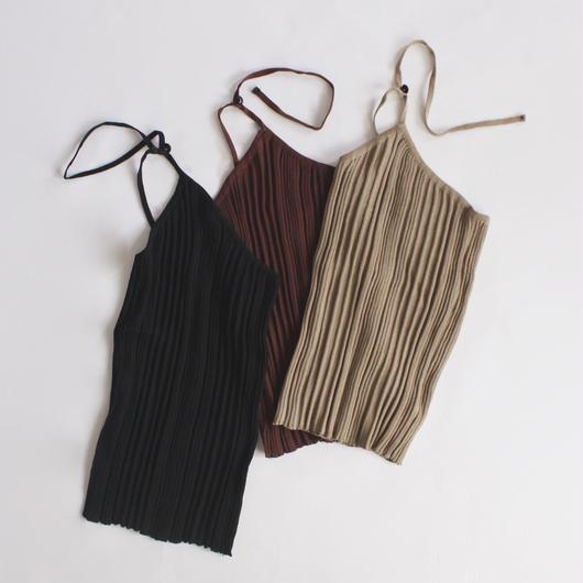neck-strap knit vest