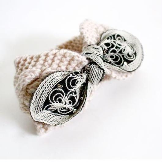 rabbit ear knit hairband