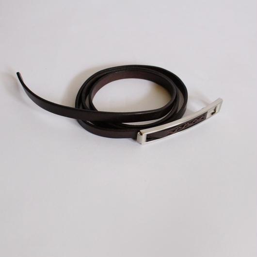 elegant thin leather belt