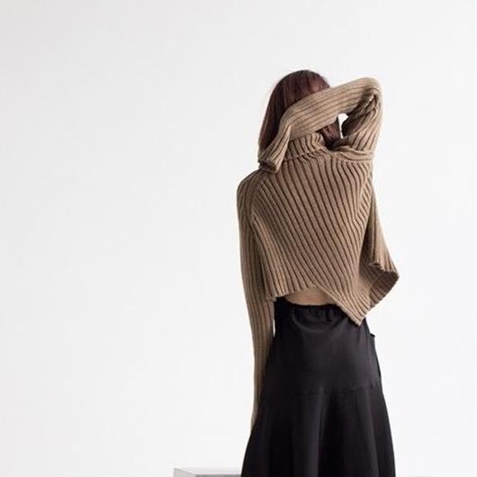 Asymmetric style sweater