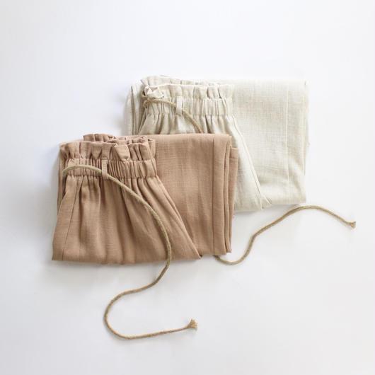 2colors-relax linen pants