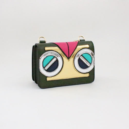 Owl eyes mini shoulder bag