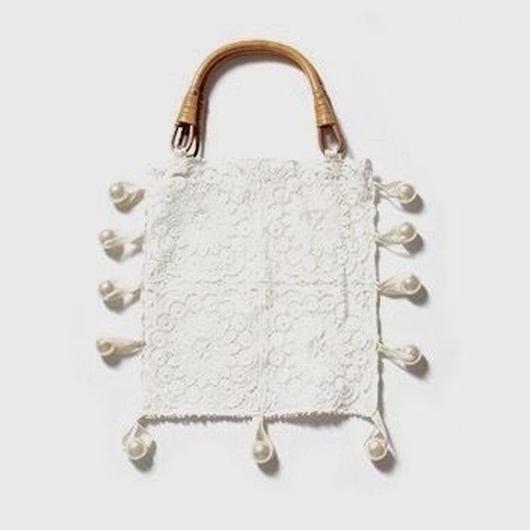 lace & pearl handbag
