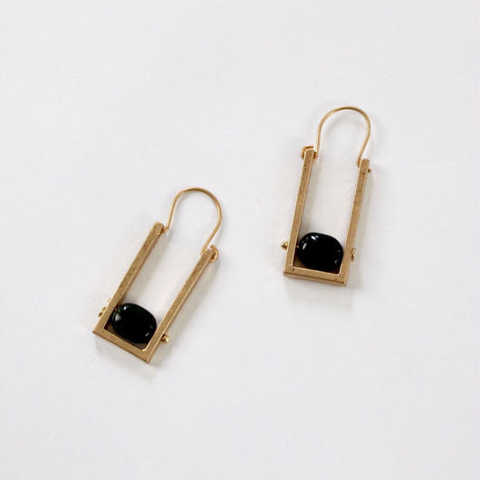 vintage stud oblong earrings