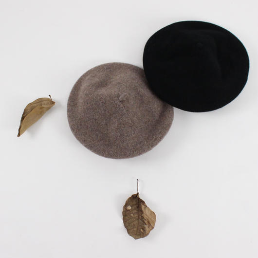 2color-retro wool beret