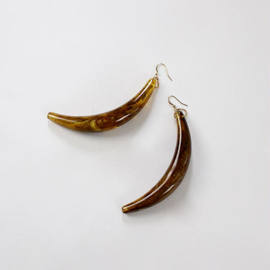 anti-horn Amber earrings