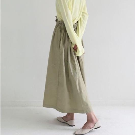 smocking waist skirt