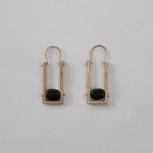 vintage stud oblong earrings