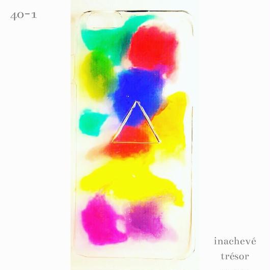 【Blur painted】/40-1 カラフルiPhoneケース
