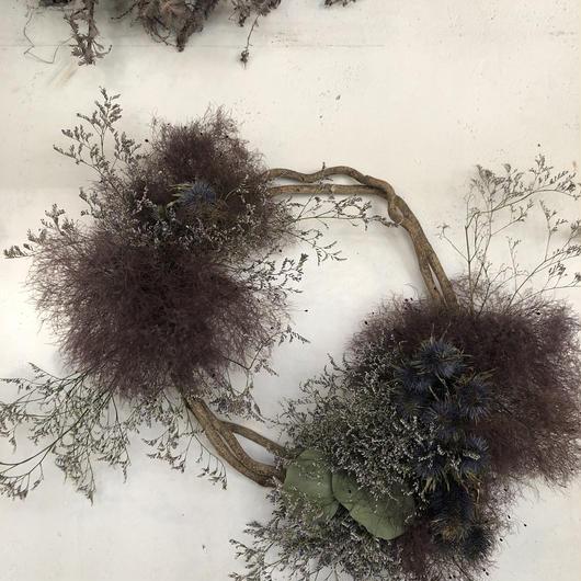 スモークツリーとエリンジュームの枝みせリース