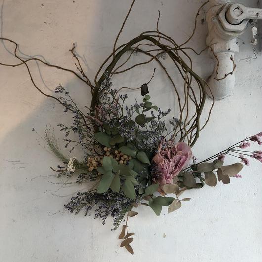 アンティークカラーの枝みせリース