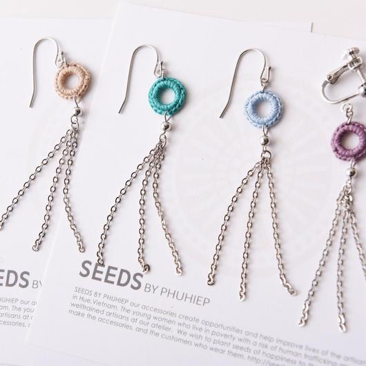 チェーンタッセルピアス・イヤリング(4色) / Long Chain Tassel Pierced Earring (4colors)