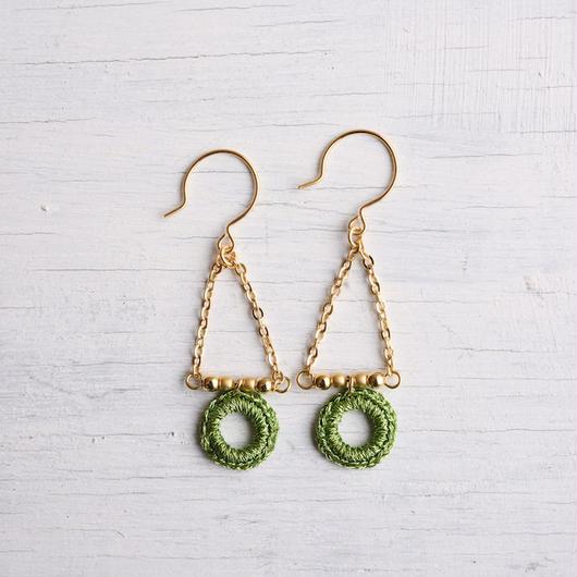 スウィングピアス (グリーン)/ Pierced Earring Swing (Green)