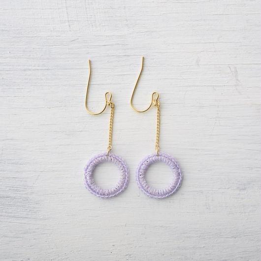 チェーンサークルピアス(5色) / chain circle pierce(5colors)
