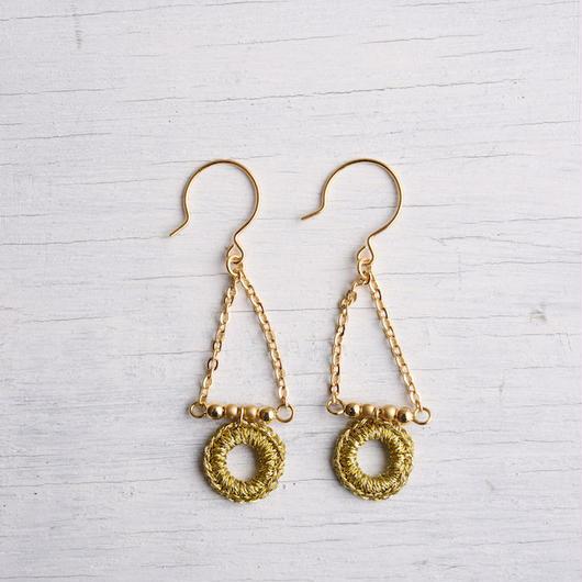 スウィングピアス (ゴールド)/ Pierced Earring Swing (GOLD)
