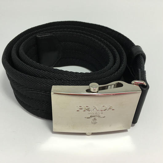 PRADAプラダ メンズロゴバックルベルト黒 品番:2C2386