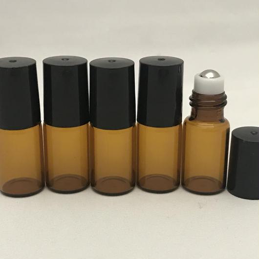 3ミリロールオンボトル(ガラス)  1セット5本入