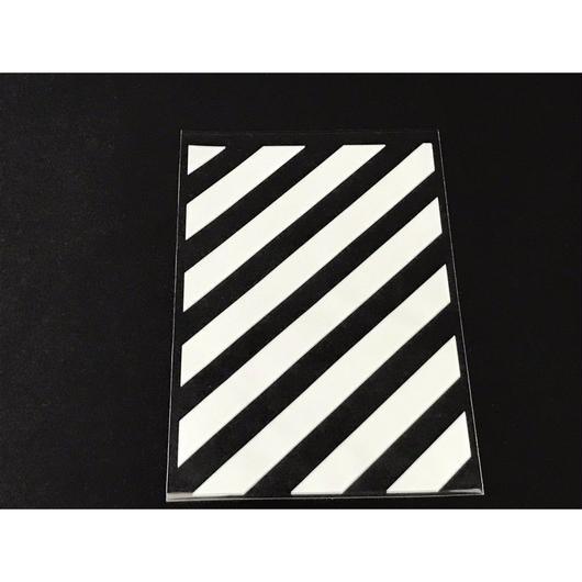 OPP袋H ストライプ ホワイト(ワイヤー付き) 1セット10枚入
