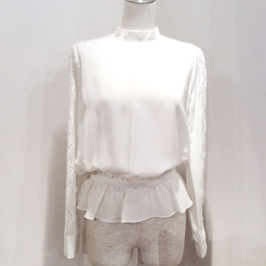 PINKO(ピンコ)  silk blouse with lace 1G12XA-Y44W